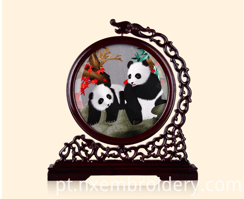 Hand Embroidered Panda